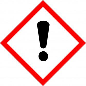 naklejka GHS07  - Substancje drażniące - toksyczne