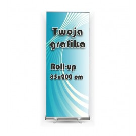 Roll-up 85x200cm + wydruk na blockout