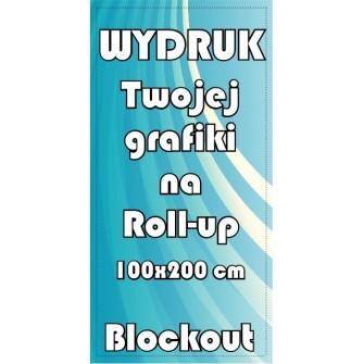 wydruk grafiki na blockout'cie do Roll-up 100x200cm