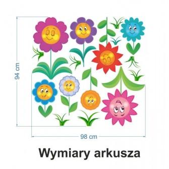 Naklejka ścienna SDE04 Kwiaty, kwiatki