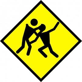 Uwaga Zombie. Tabliczka ostrzegawcza