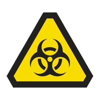 Naklejka ścienna dekoracyjna DE02 uwaga materiały toksyczne