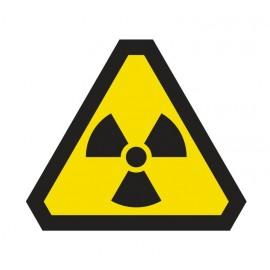 Naklejka ścienna dekoracyjna DE03 uwaga promieniowanie