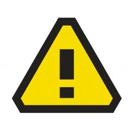 Naklejka ścienna dekoracyjna DE05 Uwaga! Niebezpieczeństwo
