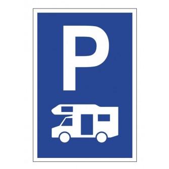 tabliczka znak PE01 parking dla kamperów