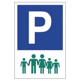 Tabliczka znak Parking dla dużej rodziny PE03b