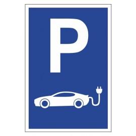 Tabliczka znak Parking dla samochodów elektrycznych PE04