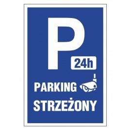 Tabliczka znak Parking strzeżony PE05