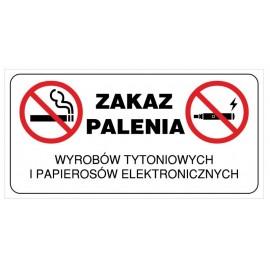 Naklejka Zakaz palenia ZPE01 Zakaz palenia e-papierosów