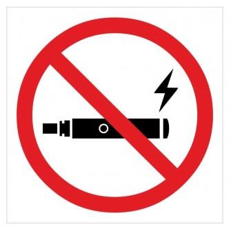 Naklejka ZPE03- zakaz palenia e-papierosów