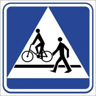 D-6b Przejście dla pieszych i przejazd dla rowerzystów