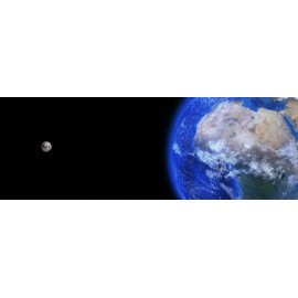 Fototapeta Ziemia i Księżyc 290x100 cm FTE10 - klej gratis