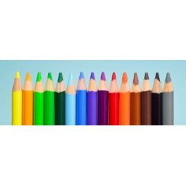 Fototapeta Kolorowe Kredki 285x100 cm FTE14 - klej gratis