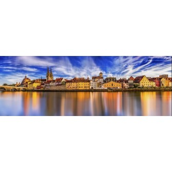 Fototapeta Panorama Miasta 285x100 cm FTE18 - klej gratis