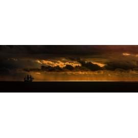 Fototapeta Statek na morzu 290x100 cm FTE21 - klej gratis