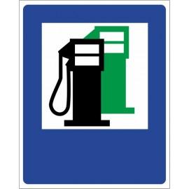 Znak drogowy D-23 stacja paliwowa