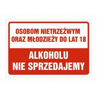 Naklejka zakaz sprzedaży alkoholu ZSA01