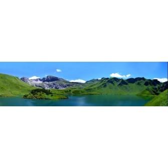 Fototapeta Panorama Górskie Jezioro 375x100 cm FTE20 - klej gratis