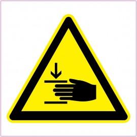 Naklejka Piktogram UK11 ostrzeżenie przed zgnieceniem