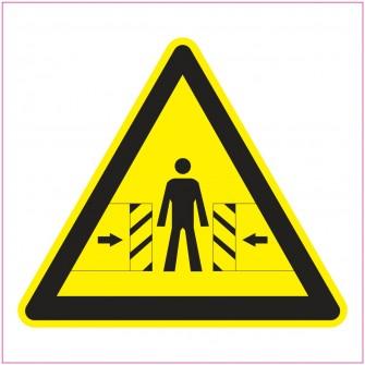 Naklejka Piktogram UK12 ostrzeżenie przed zgnieceniem