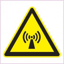 Naklejka Piktogram UK13 promieniowanie niejonizujące