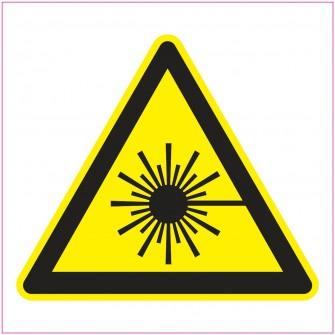 Naklejka Piktogram UK14 promieniowanie laserowe