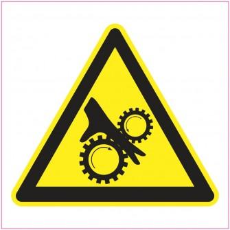 Naklejka Piktogram UK15 Uwaga na wirujące elementy