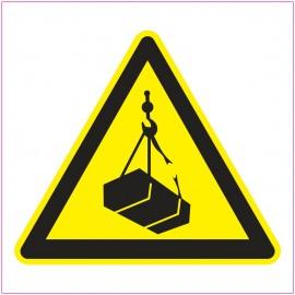 Naklejka Piktogram UK16 Ostrzeżenie przed wiszącymi przedmiotami