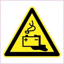 Naklejka Piktogram UK17 Ostrzeżenie przed przeciekającymi akumulatorami