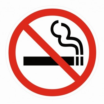 Naklejka Zakaz palenia papierosów ZPE02b