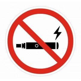 Naklejka Zakaz palenia e-papierosów ZPE03b
