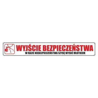 Naklejka Wyjście bezpieczeństwa WBE02