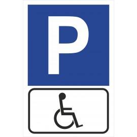 tabliczka znak parking P22  dla inwalidy