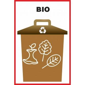 Naklejka NS3 na kosz na śmieci Bio