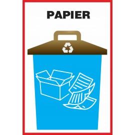 Naklejka NS4 na kosz na śmieci Papier