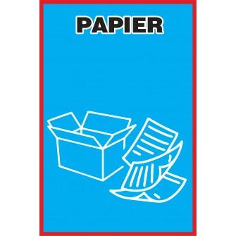 Naklejka NS9 na kosz na śmieci Papier