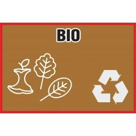 Naklejka NS13na kosz na śmieci Bio