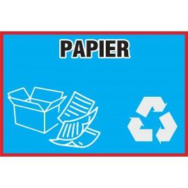 Naklejka NS14 na kosz na śmieci Papier