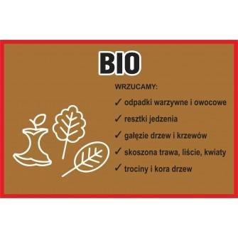 Naklejka NS18 na kosz na śmieci segregacja Bio