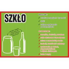 Naklejka NS22 na kosz na śmieci segregacja odpadów Szkło