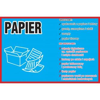 Naklejka NS24 na kosz na śmieci segregacja odpadów Papier