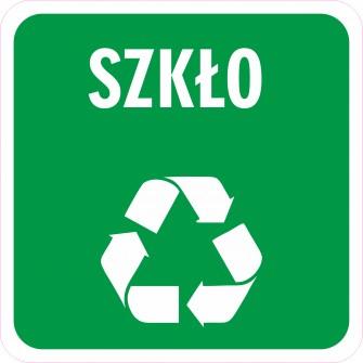 Naklejka NS26 segregacja odpadów na kosz na śmieci Szkło