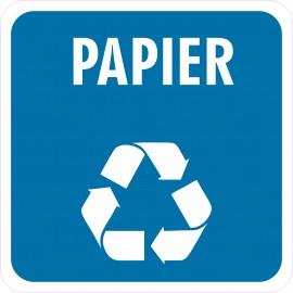 Naklejka NS27 segregacja odpadów na kosz na śmieci Papier