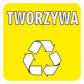 Naklejka NS28 segregacja odpadów na kosz na śmieci sztuczne