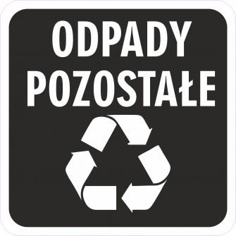 Naklejka NS29 segregacja odpadów na kosz na śmieci pozostałe
