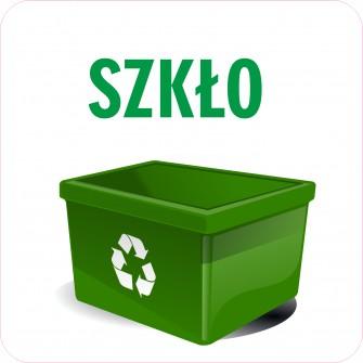 Naklejka NS32 segregacja odpadów na kosz na śmieci Szkło