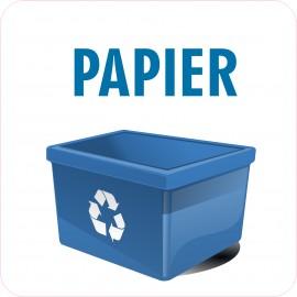 Naklejka NS33 segregacja odpadów na kosz na śmieci Papier