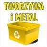 Naklejka NS34 segregacja odpadów na kosz na śmieci tworzywa sztuczne i metal