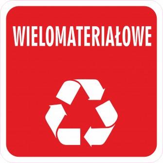 Naklejka NS38 segregacja odpadów na kosz na śmieci wielomateriałowe