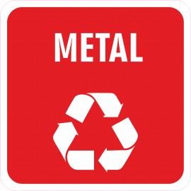 Naklejka NS39 segregacja odpadów na kosz na śmieci metalowe